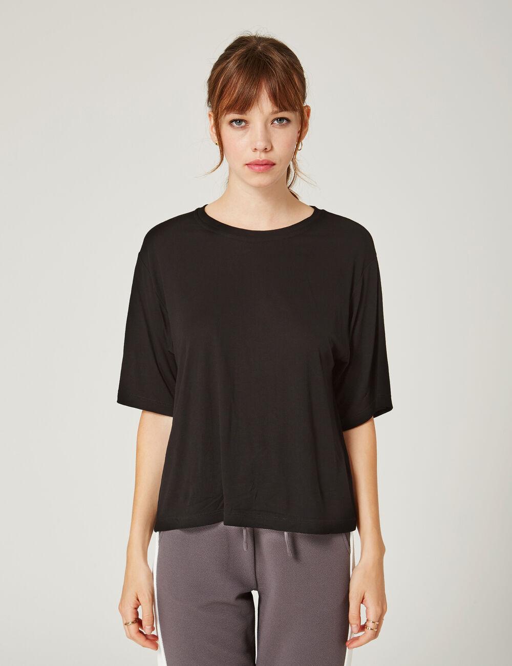tee shirt d collet dos noir femme jennyfer. Black Bedroom Furniture Sets. Home Design Ideas