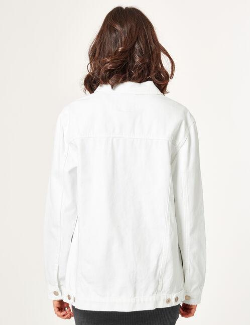 veste en toile blanche