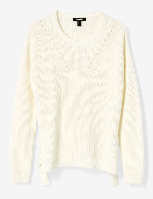 Cream jumper with buckle detail