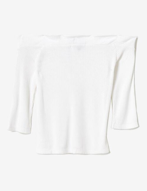 top épaules dénudées zippé blanc