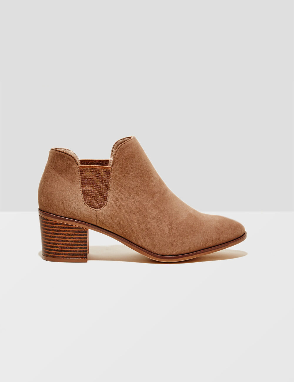 Camel faux suede boots ...