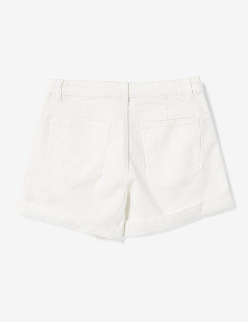 Cream turn-up shorts