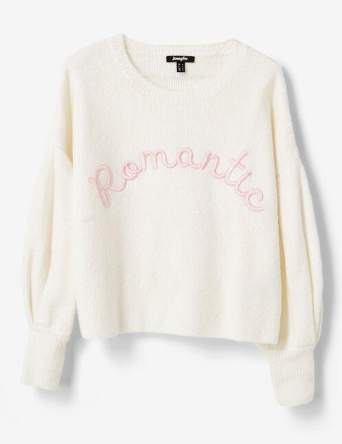 """Cream """"romantic"""" jumper"""