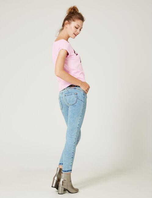 jean skinny push-up bleach