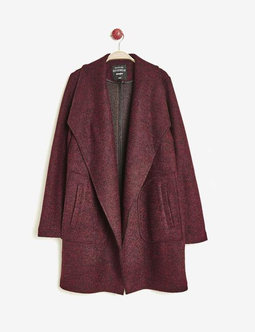 veste jetée  bordeaux chiné