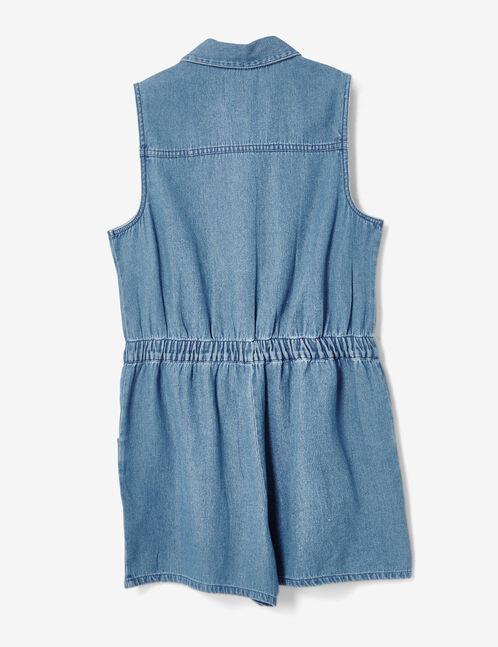 combishort en jean medium blue