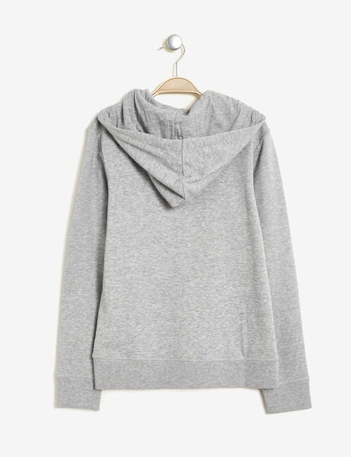 Basic grey marl zipped sweatshirt
