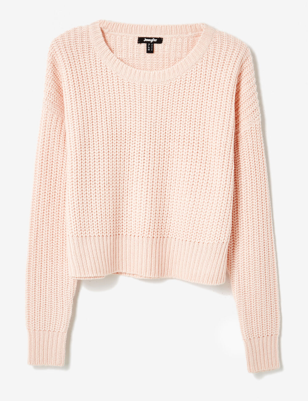 sarah louise new delicate bolero light pink sweater knit with openwork cotton