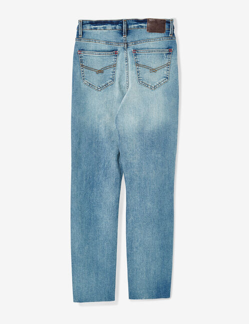 Light blue high-waisted slim-fit jeans