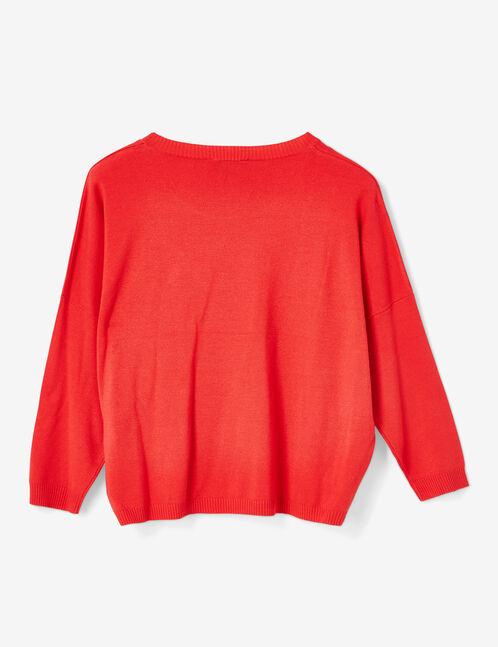 Red lightweight jumper