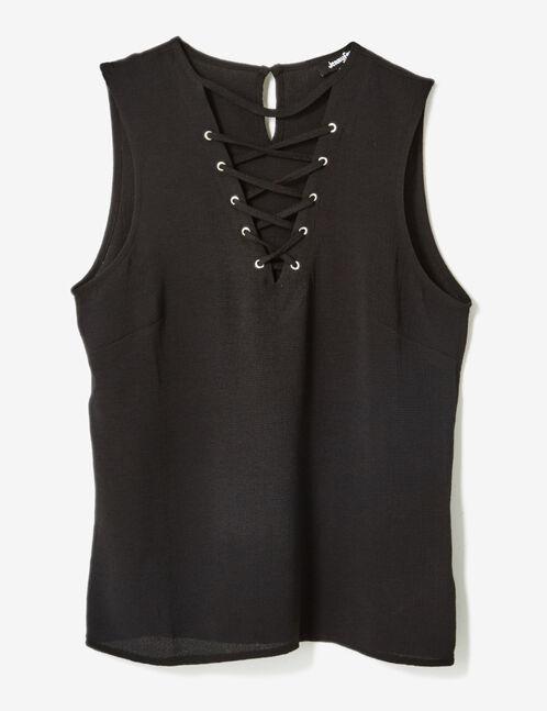 blouse avec laçage noire