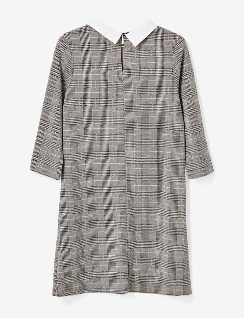 robe motif prince de galles gris