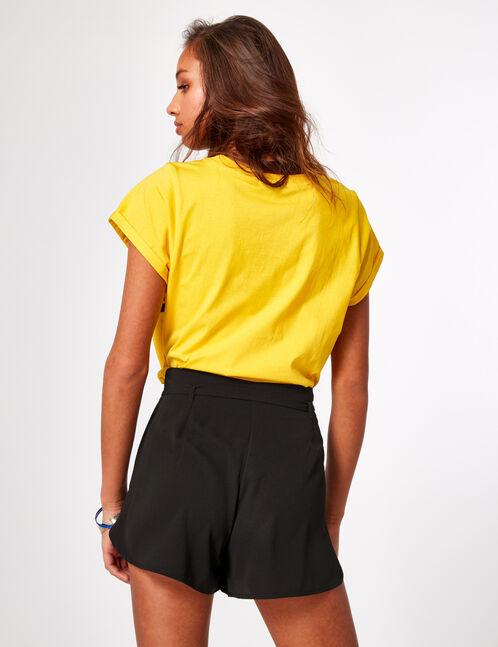 Black draped shorts