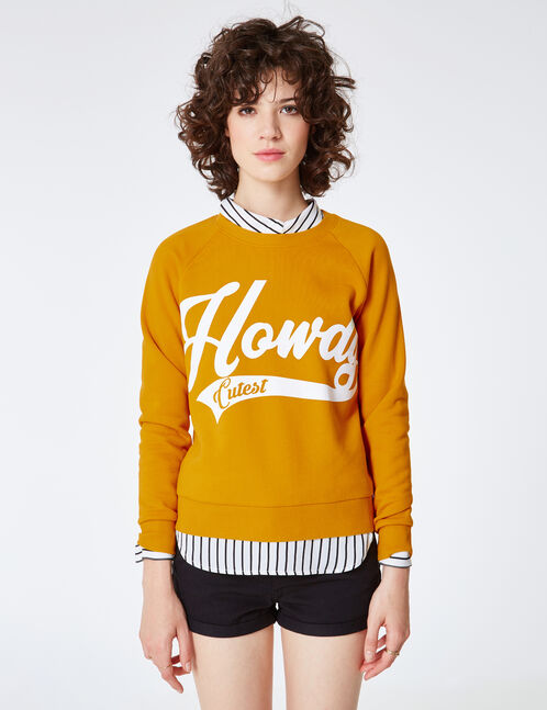 """Ochre """"howdy"""" sweatshirt"""