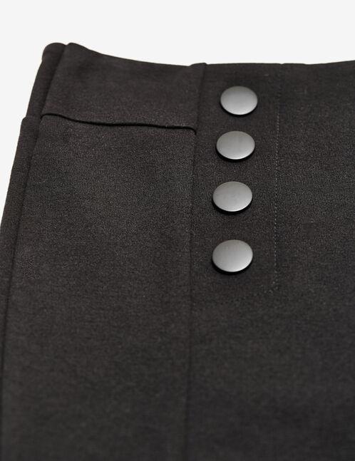 legging milano avec boutons noir