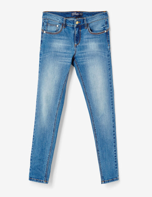Medium blue push-up skinny jeans