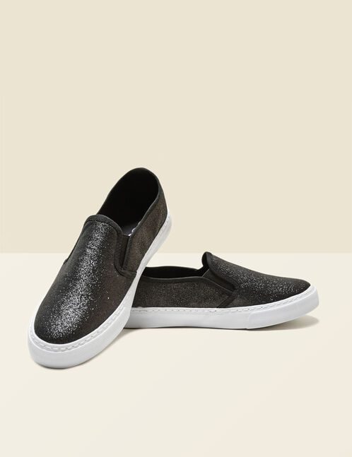 slip on pailleté noires