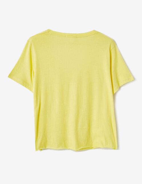 tee-shirt basic jaune clair