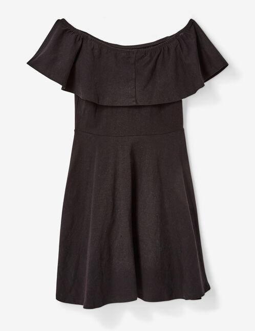 robe épaules dénudées noire