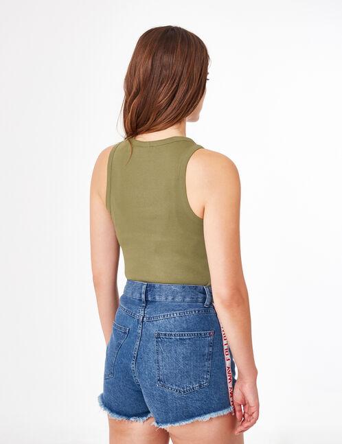 Basic khaki tank top