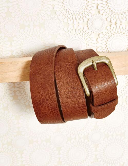 ceinture simili cuir camel