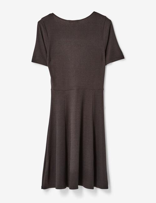 robe décolleté v avec noeud noire