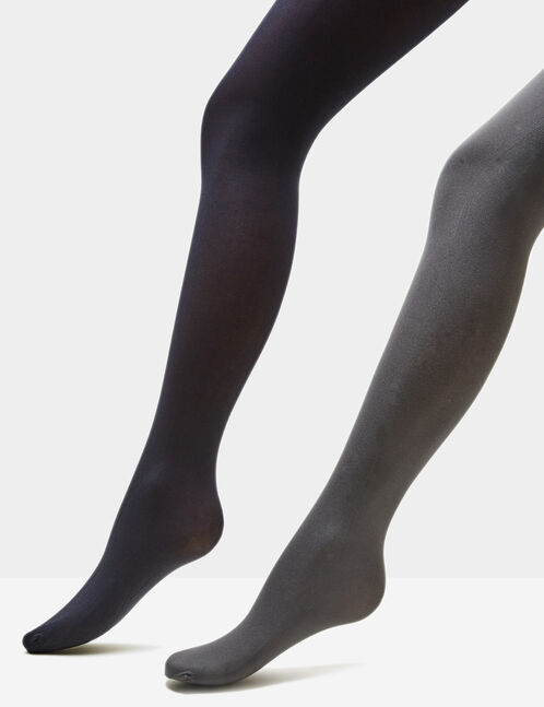 Basic black and grey tights