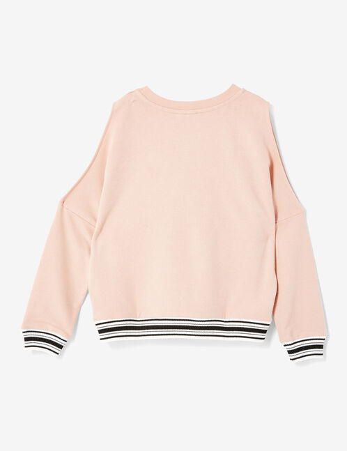Light pink cold shoulder sweatshirt