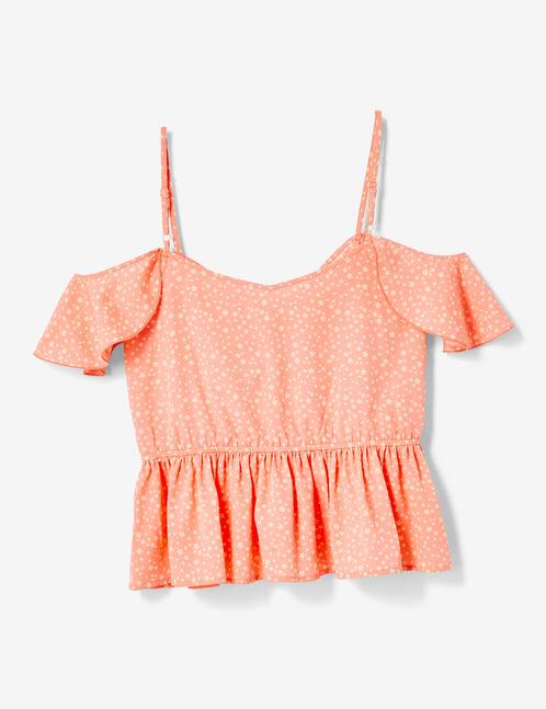 blouse imprimé étoiles corail