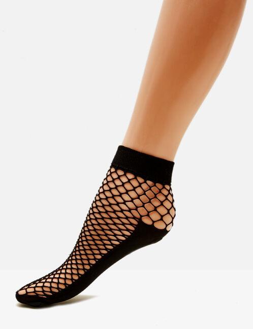 chaussettes en résille noires