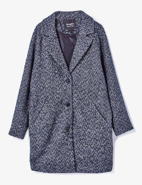 manteau droit noir et blanc