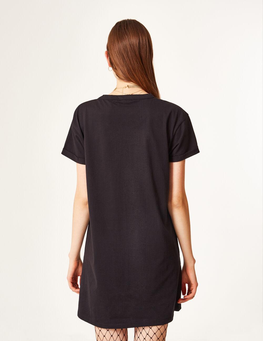 robe tee shirt noir femme jennyfer. Black Bedroom Furniture Sets. Home Design Ideas
