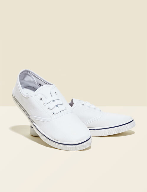 White canvas trainers
