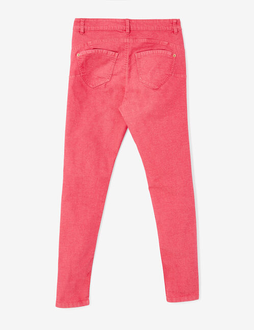 Raspberry pink skinny push-up trousers