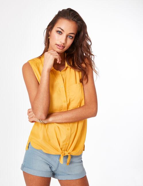 Ochre sleeveless shirt