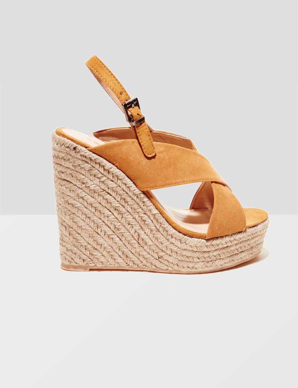 Camel wedge sandals ...