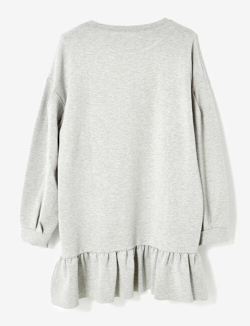 robe avec volant gris chiné
