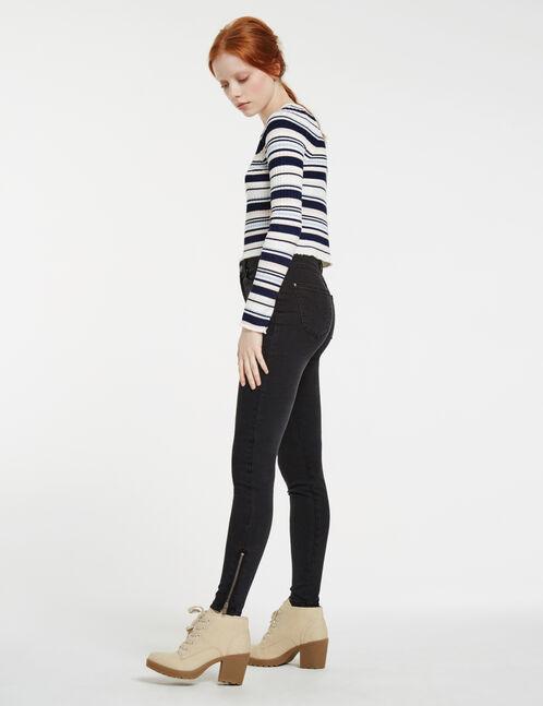 jean super skinny taille haute noir
