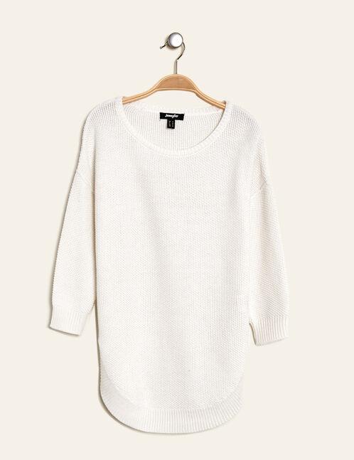 Long cream textured jumper