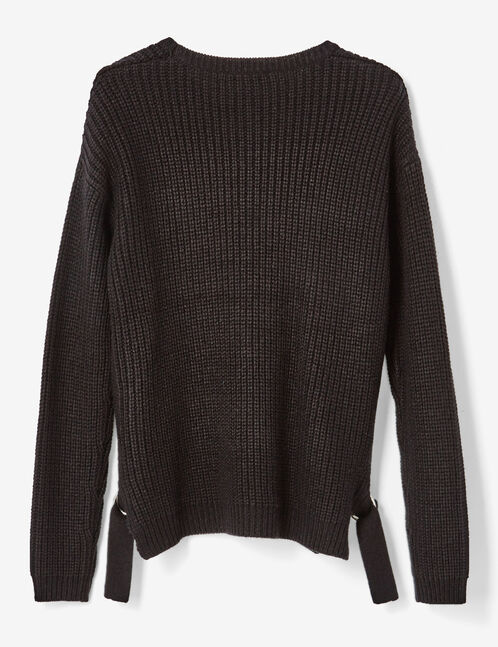 Black jumper with buckle detail