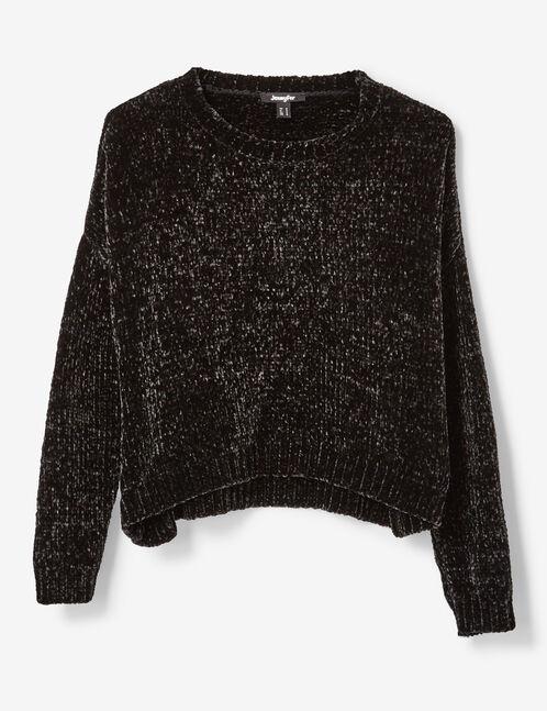 Black chenille jumper