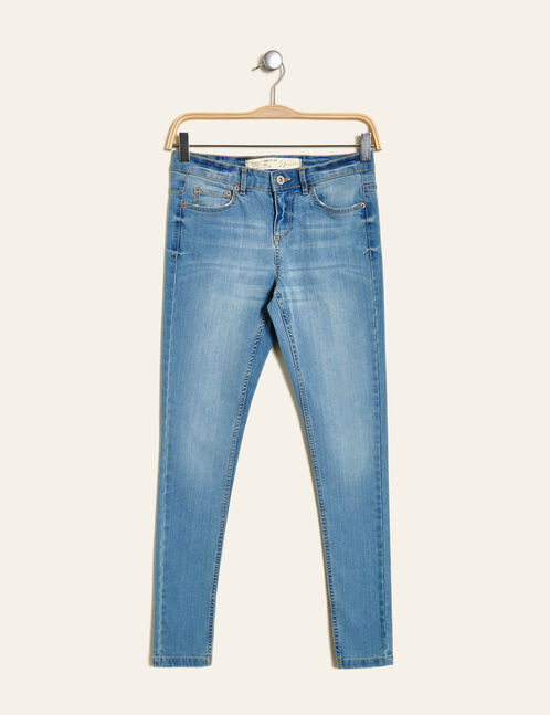 jean skinny taille basse bleu clair