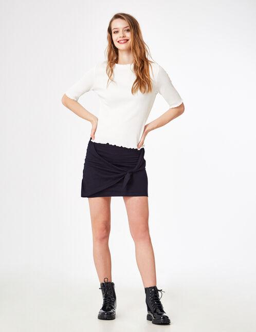 Black tied tube skirt