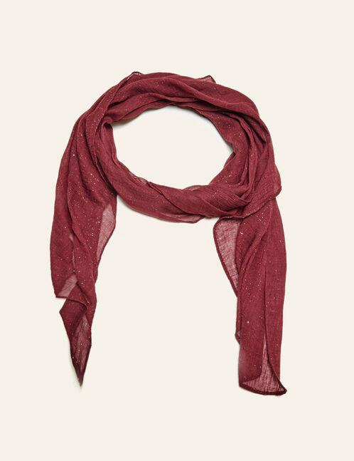 foulard pailleté bordeaux