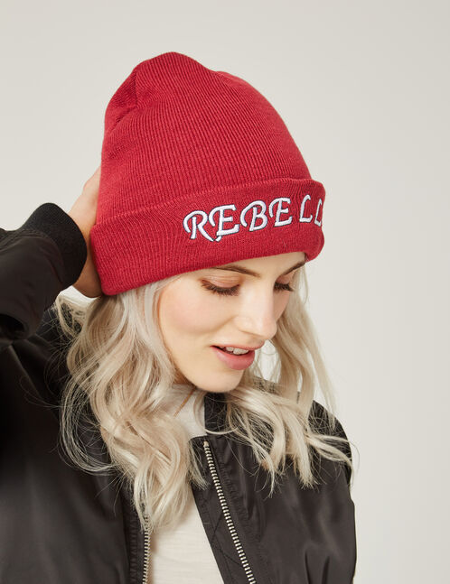 bonnet rebelle bordeaux