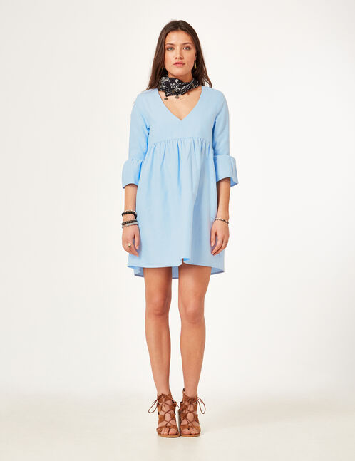 Light blue flared dress