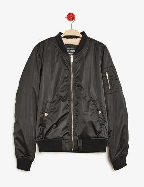 Black lined bomber jacket