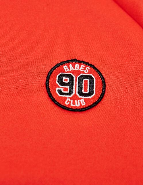 sweat zippée patch 90 rouge