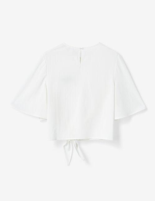 blouse à nouer écrue