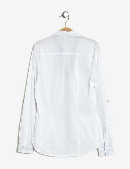 Basic white fitted shirt